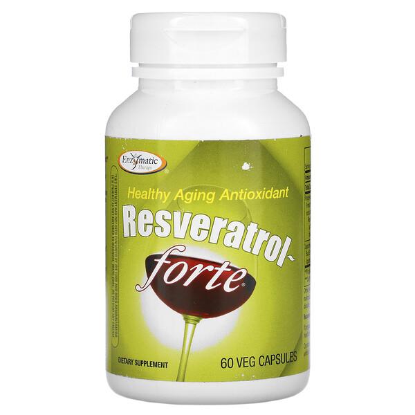 Enzymatic Therapy, Resveratrol~Forte, 125 mg, 60 Veg Capsules