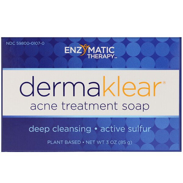 Enzymatic Therapy, DermaKlear Acne Treatment Soap, 3 oz (85 g) (Discontinued Item)