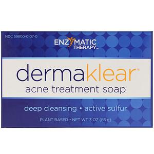 Энзайматик Терапи, DermaKlear Acne Treatment Soap, 3 oz (85 g) отзывы покупателей