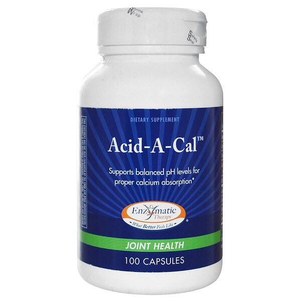 Enzymatic Therapy, Acid-A-Cal, Joint Health, 100 Capsules (Discontinued Item)