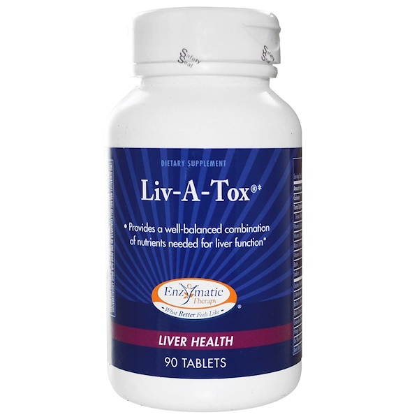 Enzymatic Therapy, Liv-A-Tox, Liver Health, 90 Tablets (Discontinued Item)