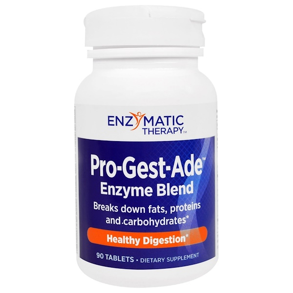Enzymatic Therapy, Pro-Gest-Ade, Healthy Digestion, 90 Tablets (Discontinued Item)