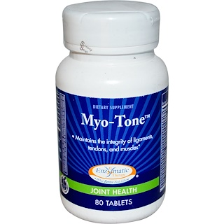 Enzymatic Therapy, Myo-Tone, Joint Health, 80 Tablets
