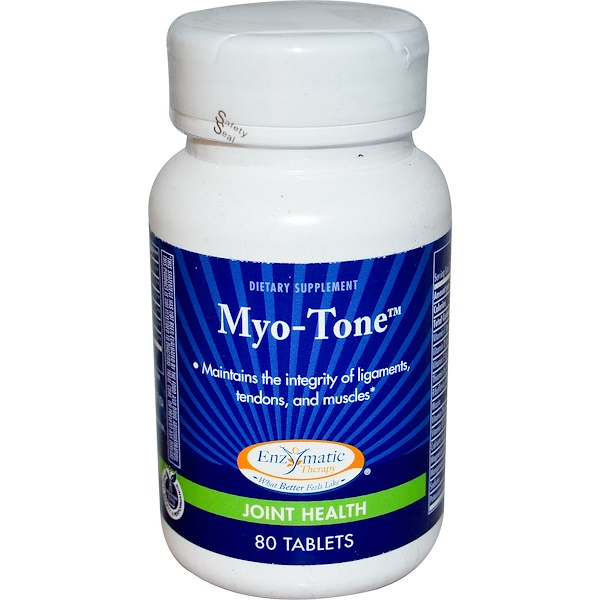 Enzymatic Therapy, Myo-Tone, Joint Health, 80 Tablets (Discontinued Item)