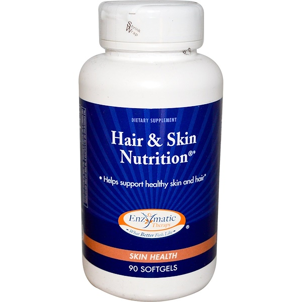 Enzymatic Therapy, Hair & Skin Nutrition, 90 Softgels (Discontinued Item)
