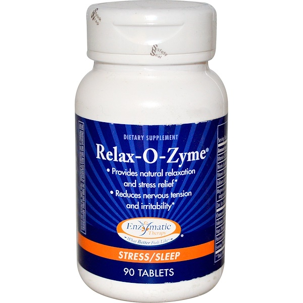 Enzymatic Therapy, Relax-O-Zyme, Stress/Sleep, 90 Tablets (Discontinued Item)