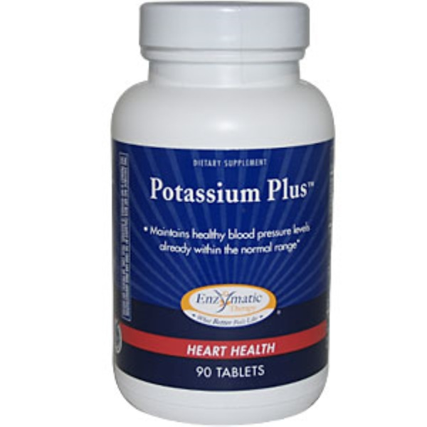 Enzymatic Therapy, Potassium Plus, 90 Tablets (Discontinued Item)