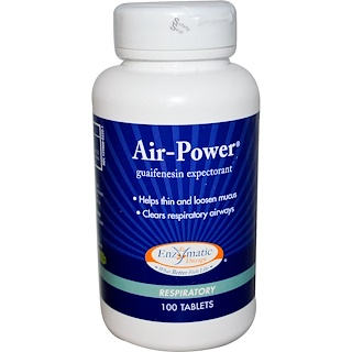 Enzymatic Therapy, Air-Power, Respiratory, 100 Tablets