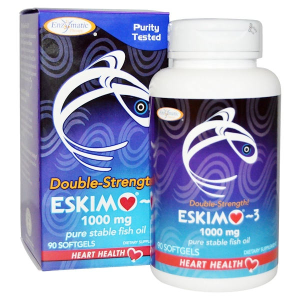 Eskimo-3, Double Strength, 1000 mg, 90 Softgels