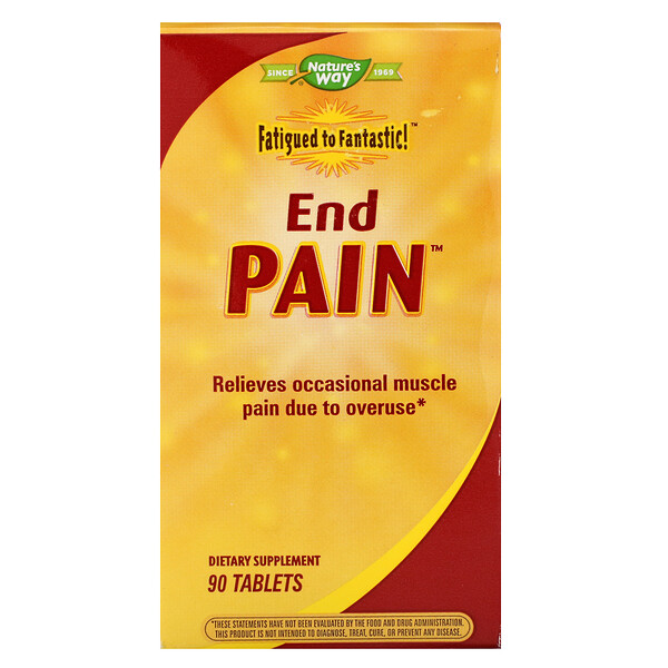 Nature's Way, Fatigued to Fantastic!, End Pain, 90 Tablets