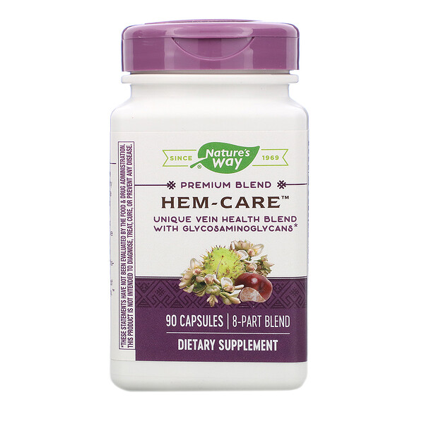 Nature's Way, Hem-Care, 90 Capsules
