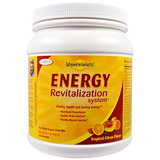 Enzymatic Therapy, Fatigued to Fantastic!, Sistema de Revitalização Energético, Sabor Tropical Cítrico, 24.7 oz (702 g)