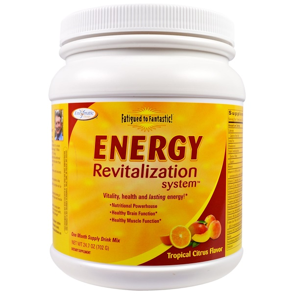 Enzymatic Therapy, Fatigued to Fantastic!, Energy Revitalization System, Tropical Citrus Flavor, 1.5 lbs (702 g)