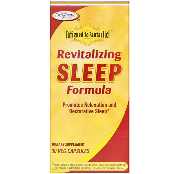 Enzymatic Therapy, Fatigued to Fantastic! Revitalizing Sleep Formula, 30 Veg Capsules