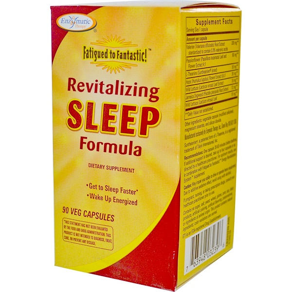 Enzymatic Therapy, Fatigued to Fantastic!, Revitalizing Sleep Formula, 90 Veggie Caps