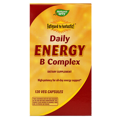 цена на Fatigued to Fantastic!, Daily Energy B Complex, 120 Veg Capsules