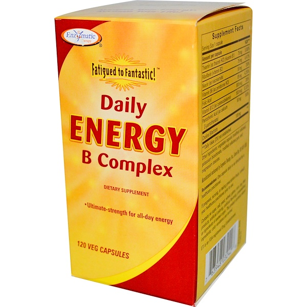 Enzymatic Therapy, Fatigue to Fantastic!, Daily Energy B Complex, 120 Veggie Caps