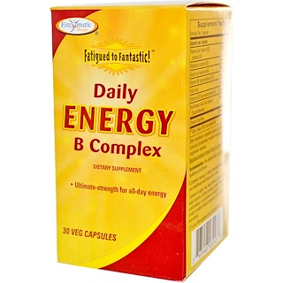 Enzymatic Therapy, Fatigued to Fantastic! Daily Energy B Complex, 30 Veggie Caps