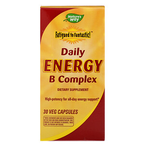 Натурес Вэй, Fatigued to Fantastic! Daily Energy B Complex, 30 Veg Capsules отзывы покупателей