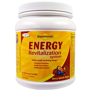 Enzymatic Therapy, Fatigued to Fantastic!, Energy Revitalization System, Berry Splash Flavor, 21.48 oz (609 g)