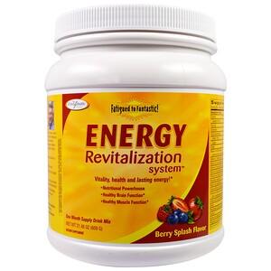 Энзайматик Терапи, Fatigued to Fantastic!, Energy Revitalization System, Berry Splash Flavor, 1.3 lbs (609 g) отзывы покупателей