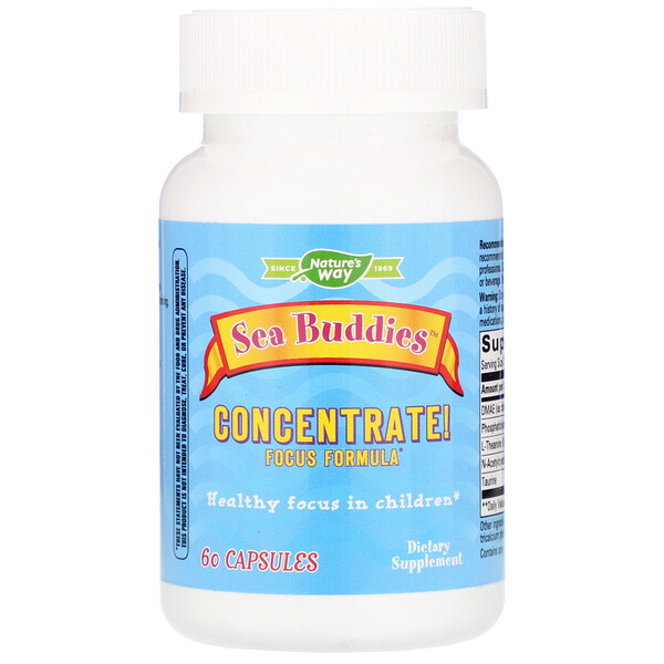 Sea Buddies, Concentrate! Focus Formula, 60 Capsules