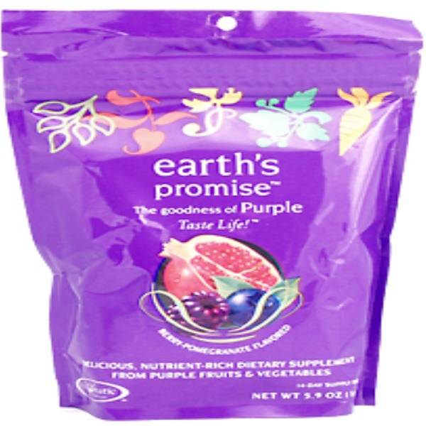 Enzymatic Therapy, Earth's Promise, Berry-Pomegranate Flavored, 14-Day Supply Drink Mix, 5.9 oz (166.8 g) (Discontinued Item)