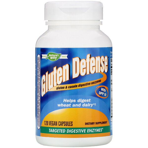 Nature's Way, Gluten Defense с DPP IV, 120 веганских капсул