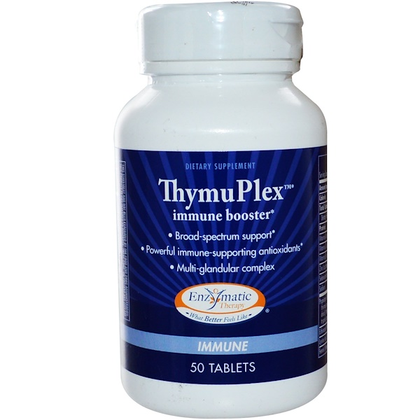 Enzymatic Therapy, ThymuPlex, Immune Booster, 50 Tablets (Discontinued Item)