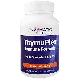 Enzymatic Therapy, ThymuPlex, Immune Formula, 50 cápsulas