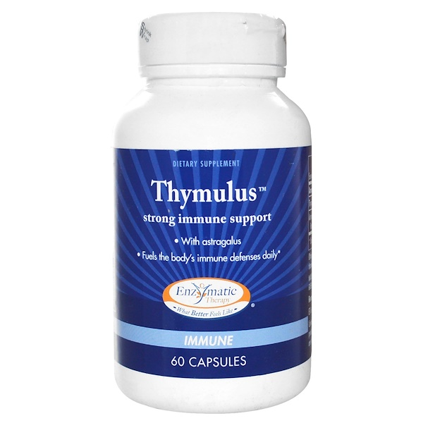 Enzymatic Therapy, Thymulus, Strong Immune Support, 60 Capsules