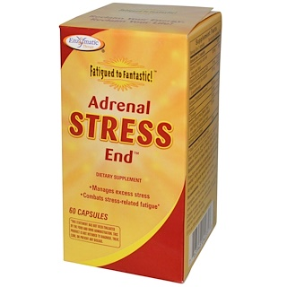 Enzymatic Therapy, Fatigued to Fantastic!, Adrenal Stress End, 60 Capsules