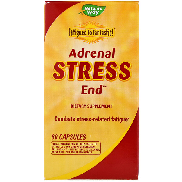 Nature's Way, Fatigued to Fantastic!, Adrenal Stress End, 60 Capsules