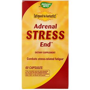 Натурес Вэй, Fatigued to Fantastic!, Adrenal Stress End, 60 Capsules отзывы покупателей