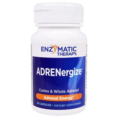 ADRENergize, энергия, 50 капсул  - купить со скидкой