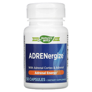 Enzymatic Therapy, ADRENergize, Adrenal Energy, 50 Capsules