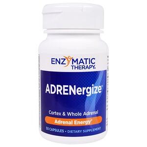 Энзайматик Терапи, ADRENergize, Adrenal Energy, 50 Capsules отзывы покупателей