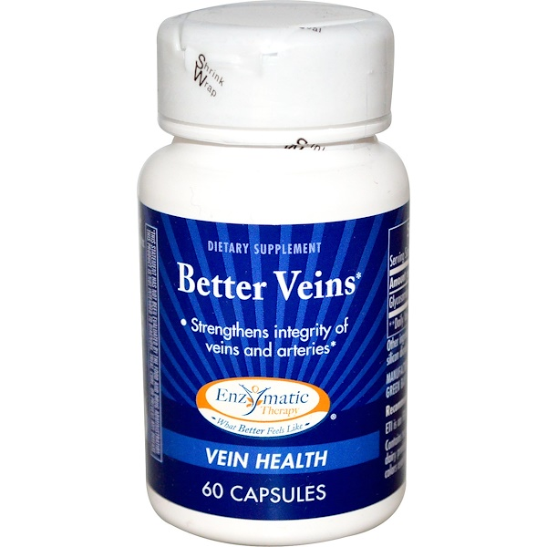 Enzymatic Therapy, Better Veins, 60 Capsules (Discontinued Item)