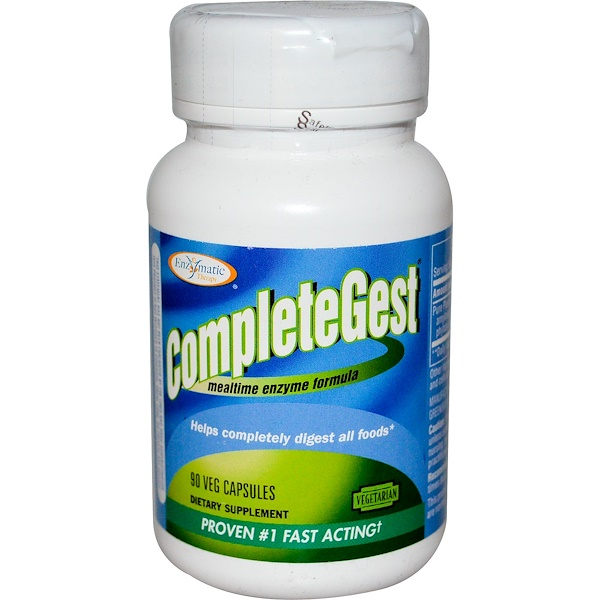 Enzymatic Therapy, CompleteGest, Mealtime Enzyme Formula, 90 Veggie Caps (Discontinued Item)