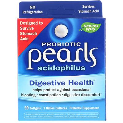 Probiotic Pearls Acidophilus, 90 мягких желатиновых капсул