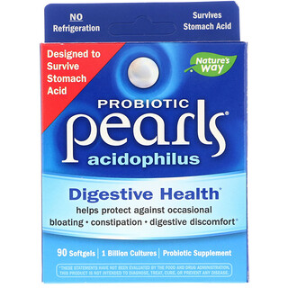 Enzymatic Therapy, Probiotic Pearls Acidophilus, 90 Softgels
