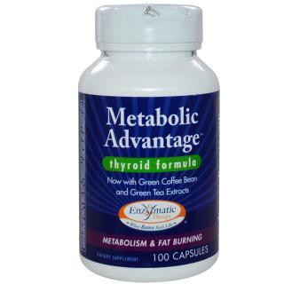 Enzymatic Therapy, Metabolic Advantage, Thyroid Formula, 100 Capsules