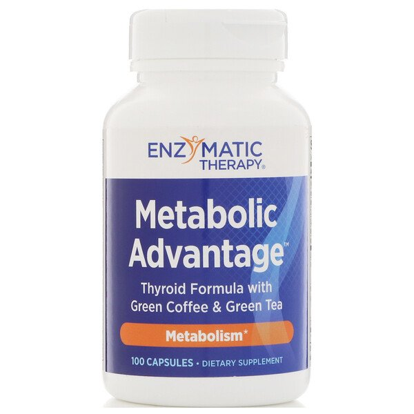 Enzymatic Therapy, Metabolic Advantage, Metabolismo, 100 Cápsulas