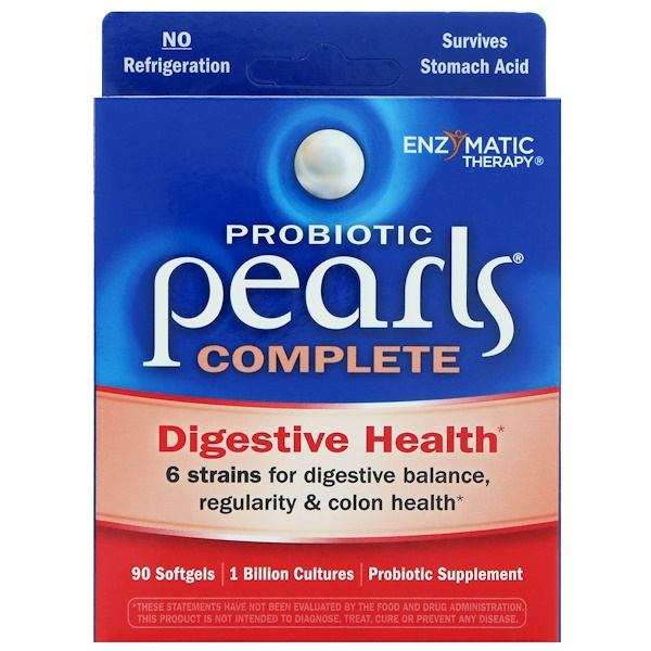 Enzymatic Therapy, Probiotic Pearls Complete, 90 Softgels
