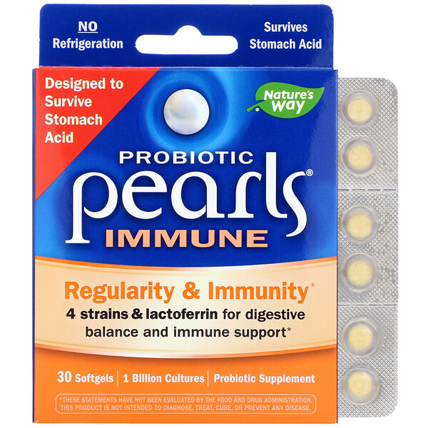Probiotic Pearls Immune, Regularity & Immunity, 30 Softgels