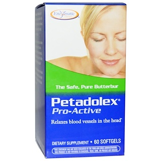 Enzymatic Therapy, Petadolex, Pro-Active, 60 Softgels