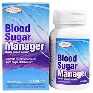 Enzymatic Therapy, Blood Sugar Manager, 60 Tablets