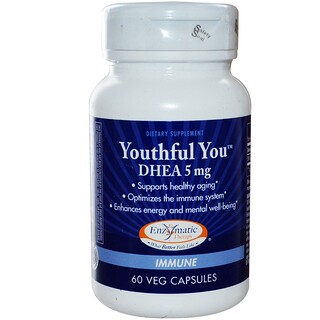 Enzymatic Therapy, Youthful You, DHEA, 5 mg, 60 Veggie Caps