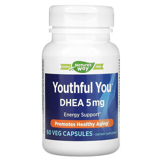 Enzymatic Therapy, Youthful You, DHEA, 5 mg, 60 Veg Capsules