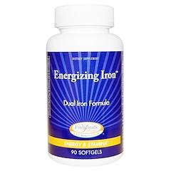Enzymatic Therapy, Energiespendendes Eisen, doppelte Eisenformel, 90 Softgelkapseln